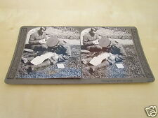 WW1 STEREOVIEW - WRITING HOME AFTER THE BATTLE - WORLD WAR ONE