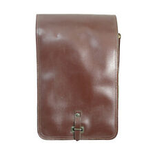 Genuine Czech Army Brown LEATHERETTE DISPATCH BAG Original Document Carry Case