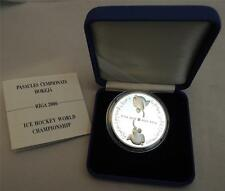 LATVIA RIGA 2006 ICE HOCKEY WORLD CHAMPIONSHIP 31.5g SILVER PROOF COIN +COA +BOX