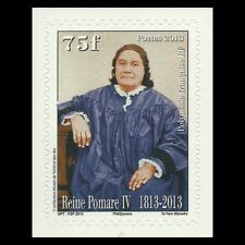 French Polynesia 2013 - Aimata Pōmare IV People Royalty Famous People - MNH