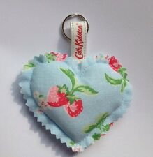 CATH KIDSTON  Fabric Heart keyring bag charm  HANDMADE Strawberry