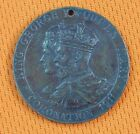 British English England 1911 King George Queen Mary Coronation Medal Badge