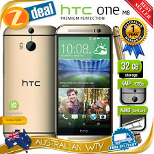 (NEW SEALED BOX) HTC ONE M8 32GB 4G LTE GOLD 100% UNLOCKED + 12MTH AUS WTY