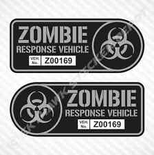 Zombie Response Vehicle Sticker Set Vinyl Decal Gun Metal TWD Decal For F150 Ram