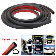 8M Small D Shape Mounlding Trim Rubber Weatherstrip Car Door Window Edge Seal