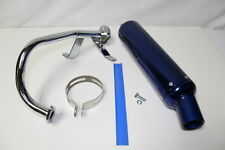 Chinese Scooter 50cc Scooter Performance Exhaust Blue