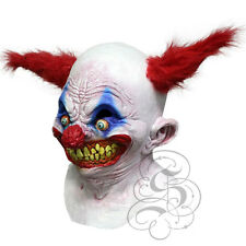 Halloween Overhead Latex Creepy Smiling Clown with Red Hair Horror Party Masks