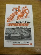 10/07/1971 Speedway Programme: Belle Vue v Leicester (results/riders/positions a