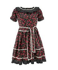 BNWT Death Kitty Black/Red Cherries Frill Dress Goth/Lolita/Dolly/Cute/Kawaii S