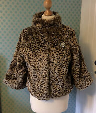 Lovely acrylic fur leopard print jacket by Atmosphere size 10
