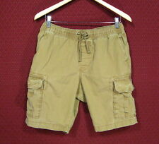 Mens Size Medium Old Navy Brown Drawstring Cargo Shorts with Button Flap Pockets
