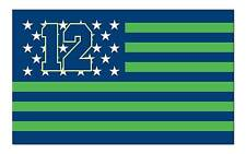 Seattle Seahawks Flag 12 Th Man Green Stars and Stripes 3'x 5' Banner Neoplex