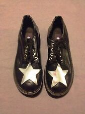 Morbid Threads Women's Creepers Black with Silver Stars Size 7
