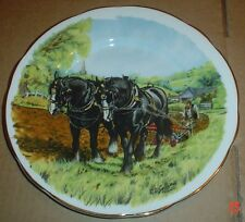 Holly Barn Bone China Collectors Plate THE PLOUGH