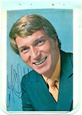Frank Ifield signed postcard + autograph album page 1974 singer I Remember You