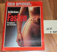 Der Spiegel Gefährliches Fasten Raubbau am Körper 14.03.1988 Art. Nr. 3696