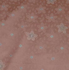 Japanese vintage kimono silk fabric Shibori and Blossom