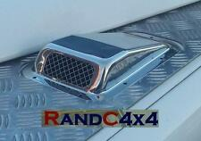 DA4000SS Land Rover Defender Stainless Steel Wing Top Air Intake Grill Left Hand