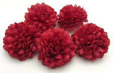 10 pcs Daisy Artificial flower Silk Spherical Heads Wedding Decor red wine 5 CM