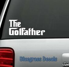 C1019 Funny Golf Decal Sticker for Car Truck SUV Van Golf Cart Driver Putter Bag