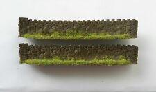URBAN WALLING DARK BROWN JAPW4LB ~ SCENERY FOR MODEL RAILWAY OO / HO SCALE, NEW