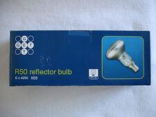 R50 40w Spot Lámpara. Reflector bombillas X6 (Calidad de marca) E14 ses Tornillo de montaje