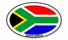 "South Africa Euro Flag Oval car window bumper sticker decal 5"" x 3"""