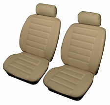 ALFA ROMEO 147 156 Cosmos Leatherlook Universal Front Car Seat Covers BEIGE