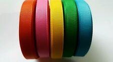 """wholesale 3/8 """" grosgrain ribbon lot  50 yards (5 colors -10y each) for hairbow"""