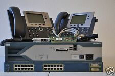 CISCO 2821 CCNA CCNP VOICE LAB KIT CME 8.6 3550-24 POE VIC2-2FXO