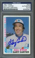 Gary Carter signed Montreal Expos 1982 Topps All-Star baseball card Psa-Dna