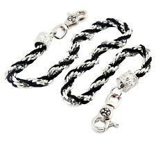 """Basic Suede & Twisted Biker Trucker Key Jean Wallet Chain (27"""") Black CS19"""