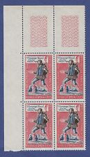 S44) Timbres France Neuf**MNH**TBE Bloc de 4 1962 n°1332 MESSAGER ROYAL