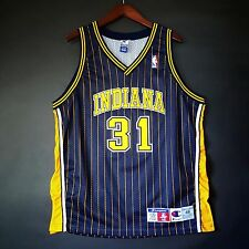 100% Authentic Reggie Miller Champion Indiana Pacers NBA Jersey Size 48 L XL