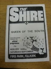 08/09/1984 East Stirlingshire v Queen Of The South  (folded). Thanks for viewing