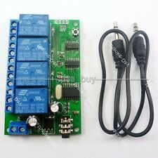 4CH DTMF MT8870 Audio Decoder Smart Home Controller Voice Mobile Phone Control