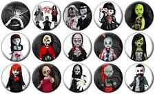 "LIVING DEAD DOLLS - Lot of 15 - Pin Back - 1"" Buttons Badges (One Inch) Set C"