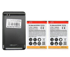 2x 3500mAh Battery + Wall Charger for Samsung Galaxy Note 2 II N7100 GT-N7100