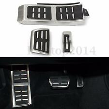 Sport Foot Rest Fuel Brake Pedal Plate Cover Set For AUDI A4 S4 A5 A6 Q5 S5 A7