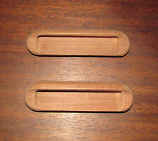 Set of 2 vtg PULLS Drawers Wood Teak RETRO HANDLES Mid Century/ NORDIC FURNITURE