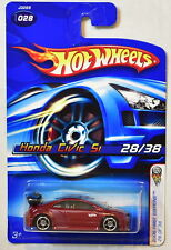 HOT WHEELS 2006 FIRST EDITIONS HONDA CIVIC SI RED #028