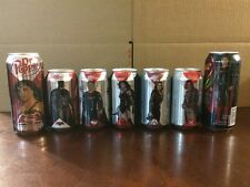 Complete Set Of 7 - Dr. Pepper BATMAN V SUPERMAN Cans 12 & 16 Oz. Wonder Woman