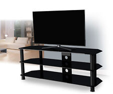 Black Gloss Glass TV Stand Suitable For LCD LED TVs 20 40 42 47 55""