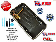 *NEW* Back Cover Housing with Bezel Power & Mute Switch FOR iPhone 3GS 8GB BLACK