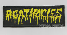 AGATHOCLES EMBROIDERED PATCH BRUTAL DEATH METAL GRINDCORE Metal Negro