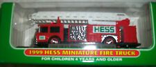 1999 HESS MINI TRUCK FIRE ENGINE W/ LADDER EMERGENCY VEHICLE