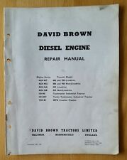 DAVID BROWN 850 950 880 IMPLEMATIC TRACTOR ENGINE SERVICE MANUAL