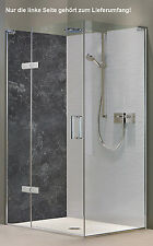 Rückwand Dusche Alu-Dibond Duschrückwand Fliesenspiegel Fliesen, Stein anthrazit