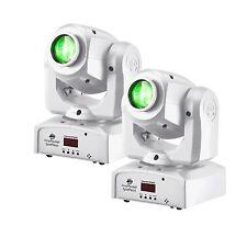 2 AMERICAN DJ Inno Pocket Spot Pearl LED Mini Moving Head 12W DMX Effect Lights