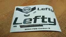Sticker Decal Set for Cannondale F29 Lefty PBR 90 Fork